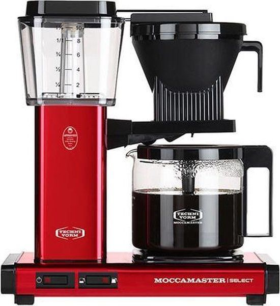 Filterkoffiemachine KBG Select, Red Metallic – Moccamaster