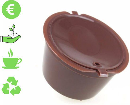 HMerch™ Herbruikbare Koffie Cup Dolce Gusto - Bruin