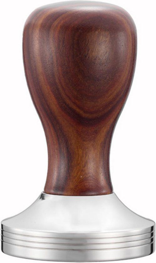 Maxxions Barista Koffie Tamper RVS Hout 58mm