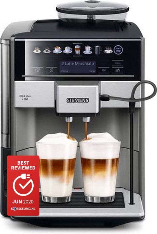Siemens EQ6 Plus TE655203RW - Espressomachine