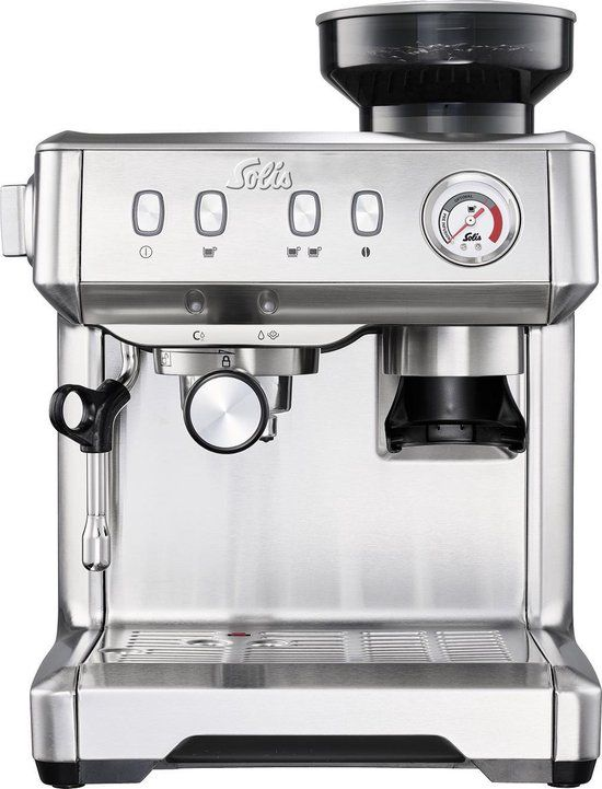 Solis Grind & Infuse Compact 1018 - Pistonmachine - RVS